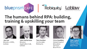 Webinar - The humans behind RPA: building, training & upskilling your team