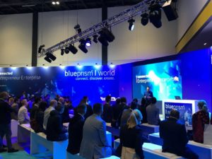 A presentation by Blue Prism at Blue Prism World 2019